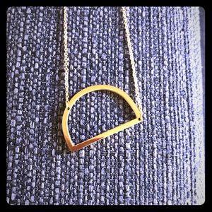 Monogram pendant necklace Initial D Anthropologie